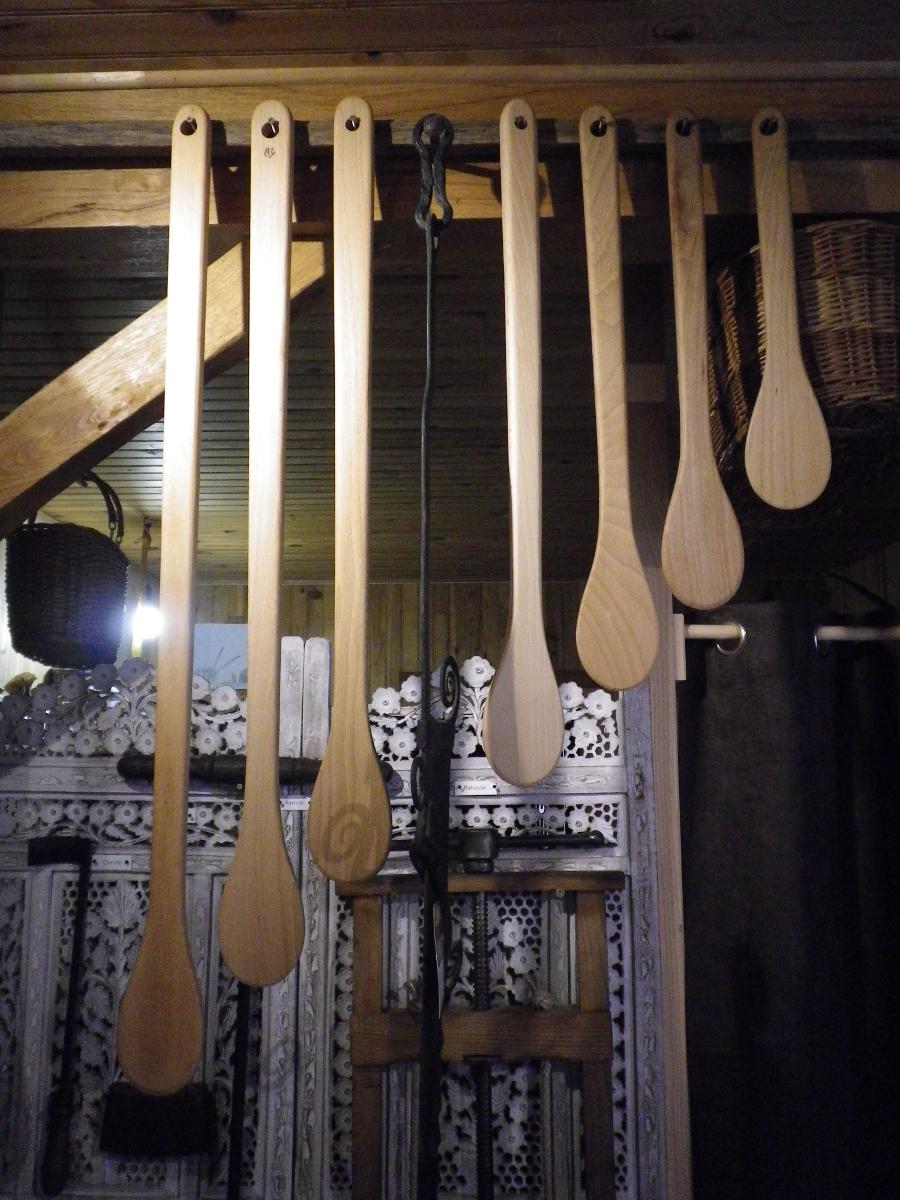 Grande cuill re spatule m langeur en bois - Spatule en bois ...